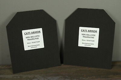 CATI Armor 10mm Trauma Pads Backers Pair 10x12 Pads For AR500 Plates