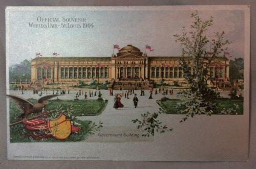 1904 WORLDS FAIR Government Building ST. LOUIS  Postcard Antique Original