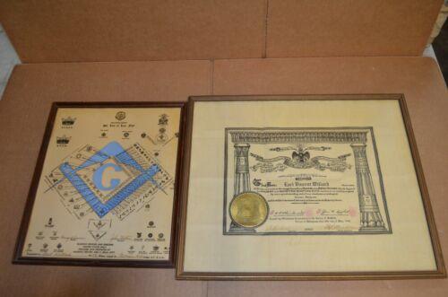 Masonic Degrees and Emblems of Freemasonry York Scottish Rite Art Freemason 1928