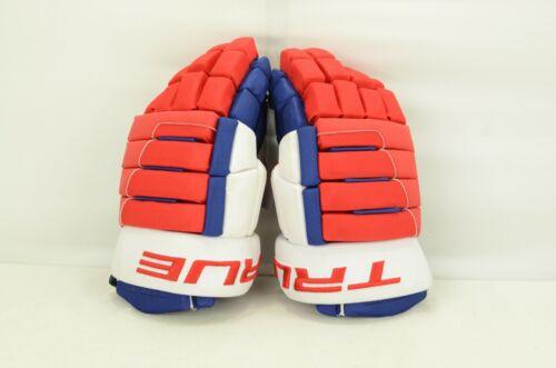 True A6.0 SBF Ice Hockey Gloves Senior Size 13 Navy/Red/White (0805-0055)