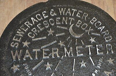NEW ORLEANS WATER METER COVER CRESCENT CITY NOLA FRENCH QUARTER CAST IRON REAL!