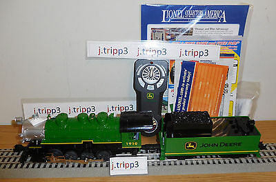 LIONEL 6-83286 JOHN DEERE LIONCHIEF STEAM ENGINE LOCOMOTIVE TRAIN O GAUGE REMOTE