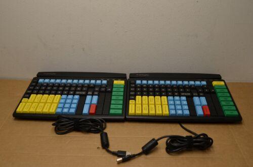 Lot of 2 PreKeyTec MCI 128 POS USB Keyboard 92328-683/1801 C2N10E2M312