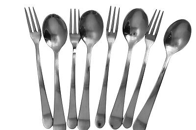 Forks And Spoons (8 pieces cocktail forks and spoon set by GS  18/10 Stainless)