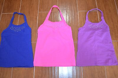 The Childrens Place Set of Three Pink Purple and Blue Summer Shirts XS 4