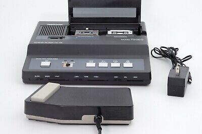 Olympus Pearlcorder T2020 Micromini Cassette Transcriber W Pedal Power Supply