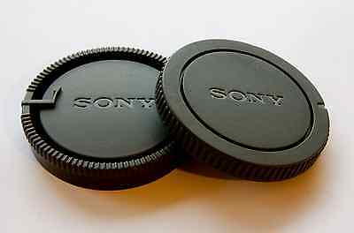 Body & Rear Lens Cap for Sony Alpha DSLR Cameras and A Mount Lenses SONY logo