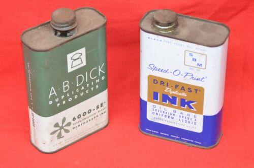Vintage SPEED-O-PRINT Black Duplictor Ink SBM No. 50 A.B. Dick 6000SE Mimeogragh