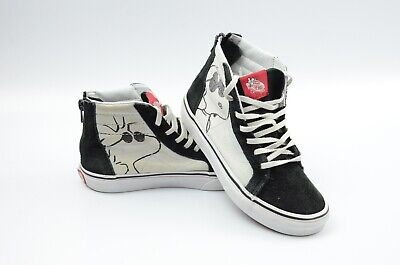 Vans Sk8 Hi Zip Peanuts Joe Cool Black Kids Skate Shoes Size 2.5Y US EU 33