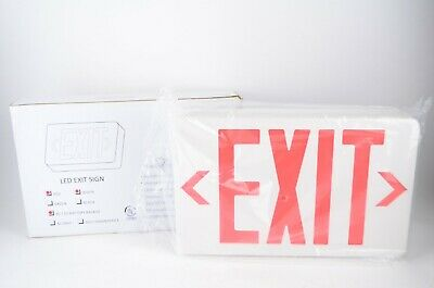 - LED Exit Sign AC/DC Battery Backup by Thomas & Betts New Old Stock QLXN500RN