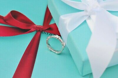 AUTHENTIC Tiffany & Co. Sterling Silver Signature X Stacking Ring Size 5 (#W151)