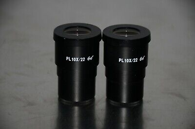 Zeiss Pl 10x22 Microscope Eyepiece Pack Of 2