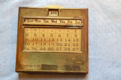 Vintage Slide Calendar