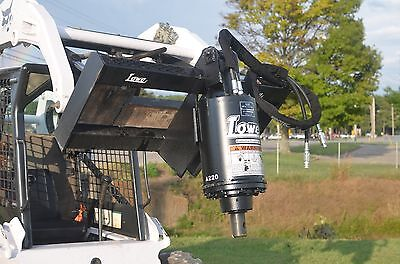 Bobcat Skid Steer Attachment - New Lowe Bp210 Round Auger Unit - Ship For 199