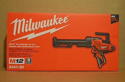 Brand New Milwaukee 2441-20 M12 Li-Ion Cordless 10 oz. Caulk and Adhesive Gun