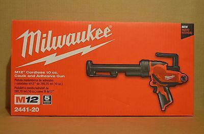 Brand New Milwaukee 2441-20 M12 Li-Ion Cordless 10 oz. Caulk and Adhesive Gun