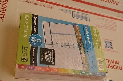 Day-timer 2020 Garden Path Planner Refill Jan-dec 2 Pagesday Size 4