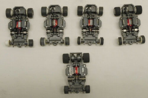 Vintage AFX Super Magna Traction & Speed Shifter HO Slot Car Chassis Lot