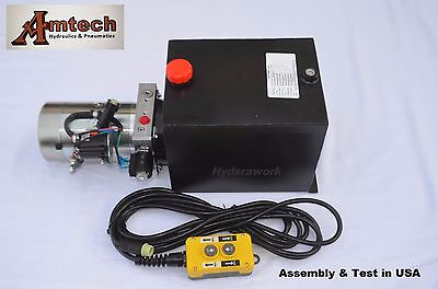 3210s Hydraulic Power Unit Hydraulic Pump 12v Single Acting10qt Dump Trailer