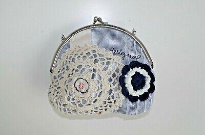 Decorative Evening Clutch Purse Handbag - DESIGUAL WOMENS CLUTCH PURSE HANDBAG EVENING COSMETIC BAG SMALL CROSSBODY 132