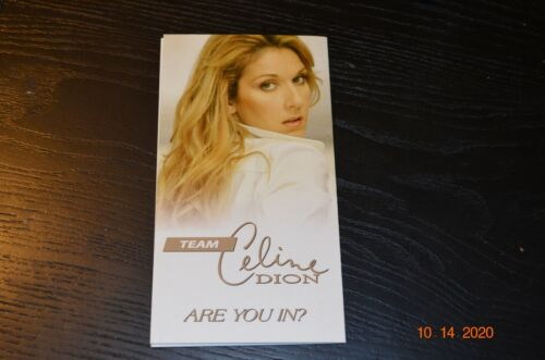 CELINE DION WEBSITE BROCHURE RARE