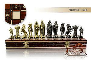 Luxury MEDIEVAL GOLD Chess Set 40cm / 16