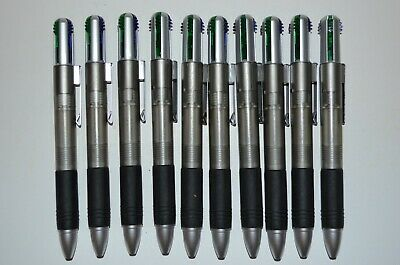 4 Color Ink Pens - 10 Misprint Retractable 4-Color Ink Plastic Ballpoint Pens with Clip
