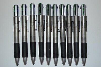 10 Misprint Retractable 4-color Ink Plastic Ballpoint Pens With Clip