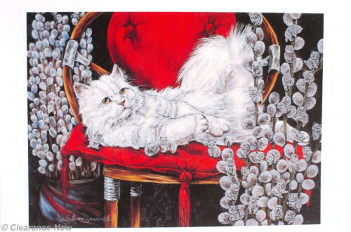 """Cat Note Cards Sheila Somerville """"Fact or Fiction"""" Pussywillow Kitten 20 Ct 9703"""