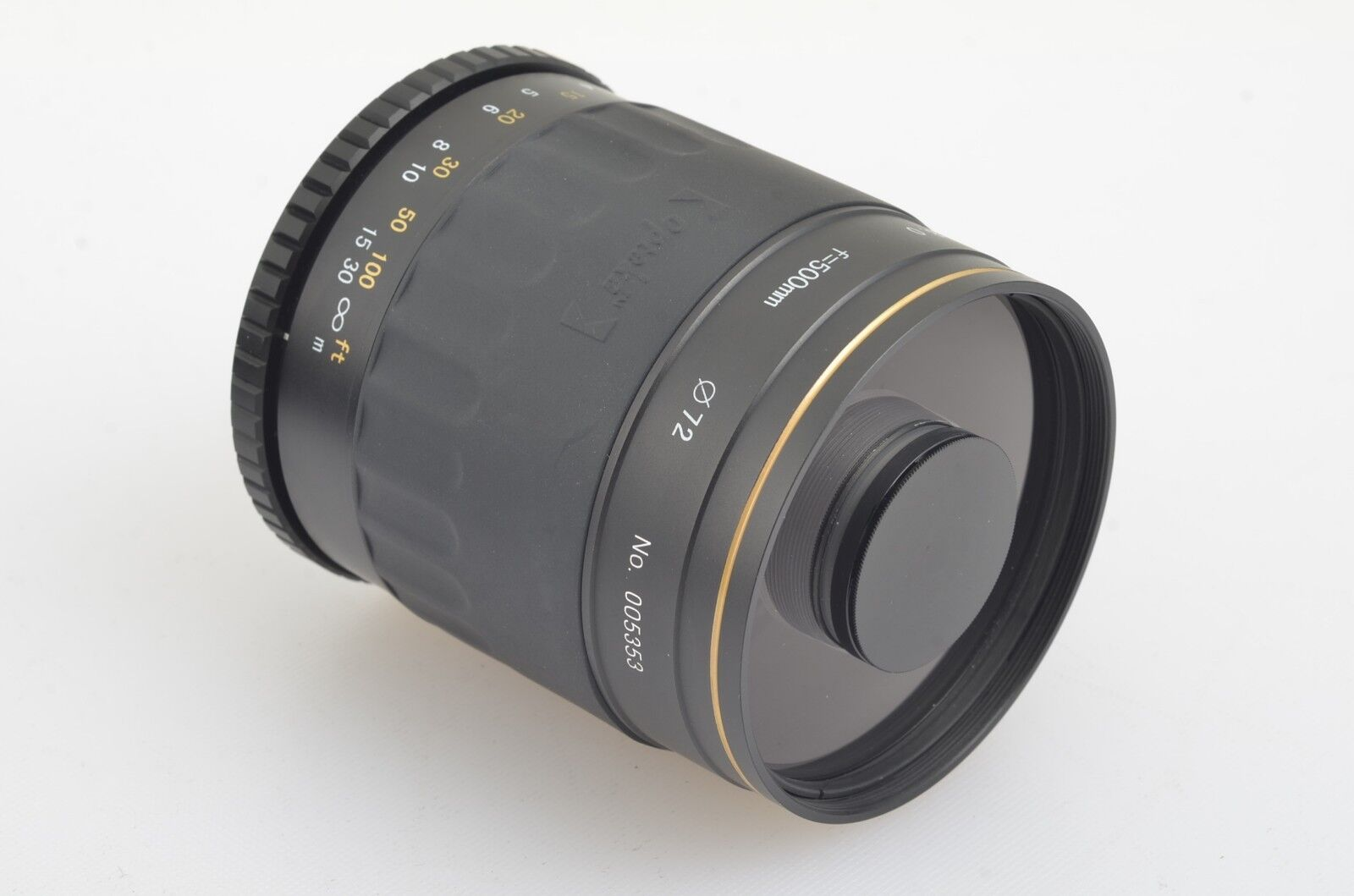 MINT- OPTEKA 500mm F8 MC MIRROR LENS W/2X TELECONVERTER, CAPS UNIVERSAL T-MOUNT - $79.95
