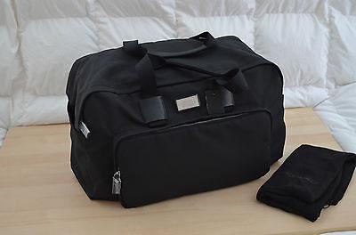 Authentic Dsquared2 Unisex Mens Weekender Black Nylon Leather Travel Bag Duffle