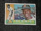 Bob Gibson Signed Card