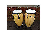 """Congas 11"""" & 12"""" with heavy duty carry bags"""
