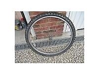Mountain bike front wheel tyre and tube