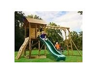Giant Wooden MaxiFort Frontier Climbing Frame. Used for 1 year. Cost £620