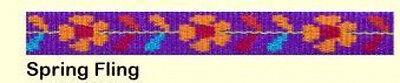 ALMOST GONE Lupine Lifetime Dog Leash - 1/2 x FLOWERS SPRING FLING