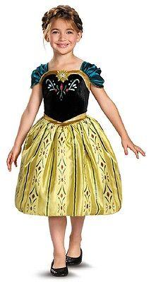 Anna Coronation Gown Disney Frozen Princess Fancy Dress Halloween Child - Coronation Anna Kostüm