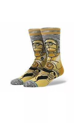 Stance Star Wars Android C-3PO Crew Socks Mens Size Medium 6-8.5