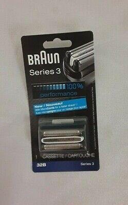New in Box Braun Series 3 32B Foil and Cutter Replacement Head Free (Braun Series 3 Replacement Foil And Cutter)