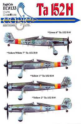 EagleCals Decals 1/32 FOCKE WULF Ta-152H Fighter Part 1 for sale  USA