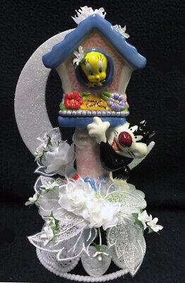 Tweety Bird Sylvester Cat Warner Brothers Looney Tunes Wedding Cake Topper top