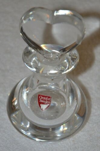 """Orrefors """"Heart Stopper"""" Perfume Bottle~Signed~MINT~Collectible~The Perfect Gift"""