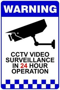 Reflective Aluminium Metal CCTV Surveillance Camera Warning Sign Maddington Gosnells Area Preview
