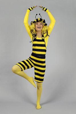 Kostüm Biene 2 tlg. Latzhose/Haube Bienenkostüm Tierkostüm Plüsch Gr 36 38 40 42