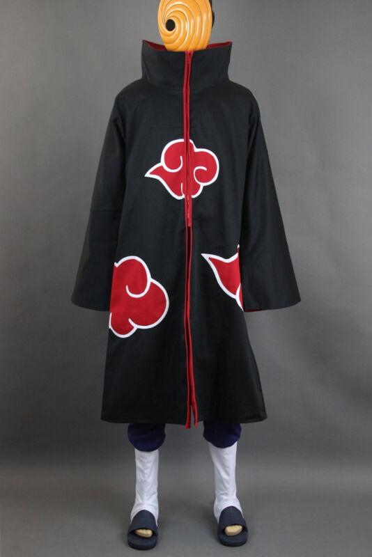 NARUTO Akatsuki Ninja Tobi Obito Madara Uchiha Cosplay costume+Mask+boots
