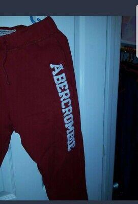 Abercrombie & Fitch Fleece Sweatpants Drawstring red. Men / boys size XS