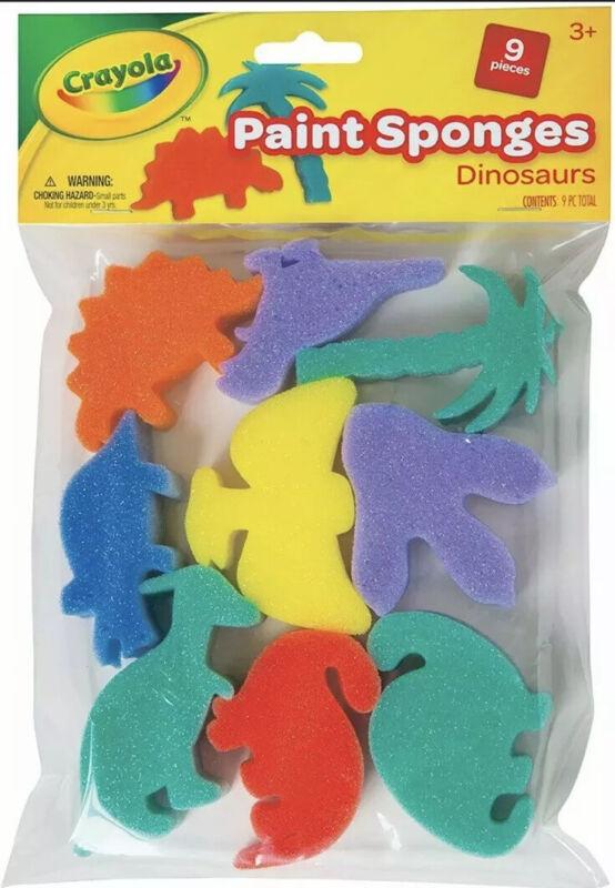 Crayola Dinosaur Paint Sponges, 9-Pieces Ages 3+ NEW