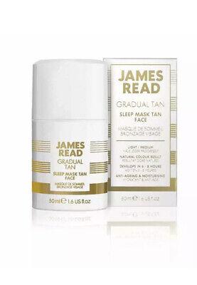 NEW James Read Gradual Tan Light Medium Sleep Mask Face 50ml Natural Buildable