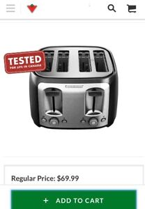 Black and decker 4-slices toaster