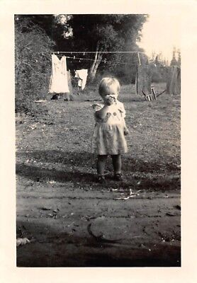 Girl Clothes Online ( SWEET LITTLE GIRL PLAYS on LAUNDRY DAY CLOTHES HANGING ON LINE TO DRY Vtg)